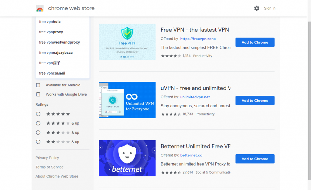 UVPN FREE AND UNLIMITED CHROME VPN - Best 5 VPNs for Chrome